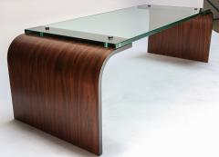 Adesso Studio Custom Rectangular Rosewood and Glass Coffee Table - 1107420