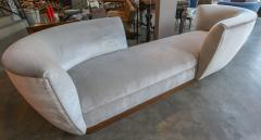 Adesso Studio Custom Tete a Tete Sofa Bench in Grey Velvet with Walnut Base by Adesso Imports - 1793118