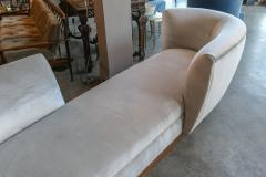 Adesso Studio Custom Tete a Tete Sofa Bench in Grey Velvet with Walnut Base by Adesso Imports - 1793120