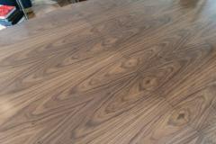 Adesso Studio Custom Walnut Pedestal Dining Table with Brass Leg - 1029423