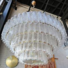 Adesso Studio Large Custom Tiered Murano Chandelier with Clear Glass Tubes - 1662842