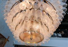 Adesso Studio Large Custom Tiered Murano Chandelier with Clear Glass Tubes - 1662847