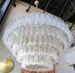 Adesso Studio Large Custom Tiered Murano Chandelier with Clear Glass Tubes - 1662852
