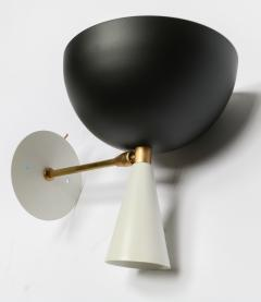 Adesso Studio Pair of Custom Brass and Black Metal Mid Century Style Sconces by Adesso Imports - 2007804