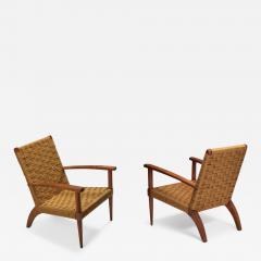 Adrien Audoux Frida Minet Audoux Minet Armchairs 1960s - 1470800