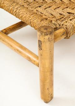 Adrien Audoux Frida Minet Audoux Minet Woven Rope and Wood Coffee Table or Bench - 1152176