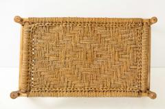 Adrien Audoux Frida Minet Audoux Minet Woven Rope and Wood Coffee Table or Bench - 1152192