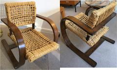 Adrien Audoux Frida Minet Audoux Minet for Vibo pair of rope chair in good vintage condition - 863261