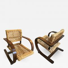 Adrien Audoux Frida Minet Audoux Minet for Vibo pair of rope chair in good vintage condition - 863839