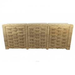Adrien Audoux Frida Minet Audoux Minet rarest 3 pieces set of comfy weaving hay rope - 998211