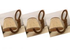 Adrien Audoux Frida Minet Audoux Minet set of 3 rope sconces - 995701