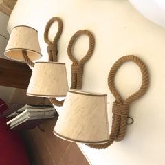 Adrien Audoux Frida Minet Audoux Minet set of 3 rope sconces - 995702