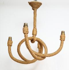 Adrien Audoux Frida Minet Four arms rope chandelier by Audoux Minet France 1960s - 996014
