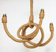 Adrien Audoux Frida Minet Four arms rope chandelier by Audoux Minet France 1960s - 996023