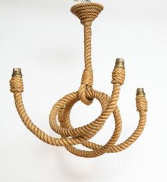 Adrien Audoux Frida Minet Four arms rope chandelier by Audoux Minet France 1960s - 996024