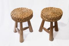 Adrien Audoux Frida Minet Frida Minet Adrian Audoux Pair of stools circa 1950 - 1094245
