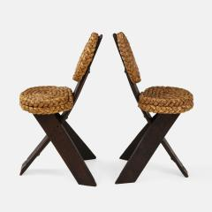Adrien Audoux Frida Minet Pair of Rope and Wood Chairs - 1995807