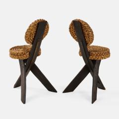 Adrien Audoux Frida Minet Pair of Rope and Wood Chairs - 1995808