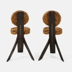 Adrien Audoux Frida Minet Pair of Rope and Wood Chairs - 1995810