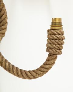 Adrien Audoux Frida Minet Pair of rope double arms sconces by Audoux Minet France 1960s - 998139