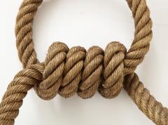 Adrien Audoux Frida Minet Pair of rope double arms sconces by Audoux Minet France 1960s - 998141