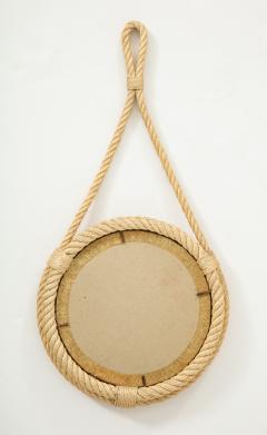Adrien Audoux Frida Minet Petite rope mirror by Audoux Minnet France 1960s - 830761