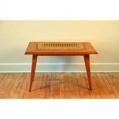 Adrien Audoux Frida Minet Rare Oak and Rope Side Table by Adrien Audoux and Frida Minet - 1078798