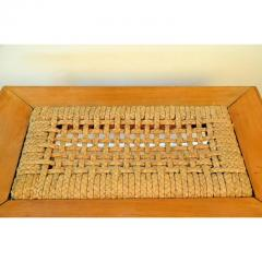 Adrien Audoux Frida Minet Rare Oak and Rope Side Table by Adrien Audoux and Frida Minet - 1078801