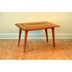 Adrien Audoux Frida Minet Rare Oak and Rope Side Table by Adrien Audoux and Frida Minet - 1078802