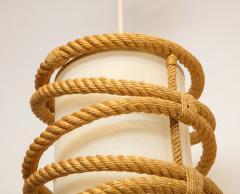 Adrien Audoux Frida Minet Rope chandelier pendant by Audoux Minnet France 1960s - 906304