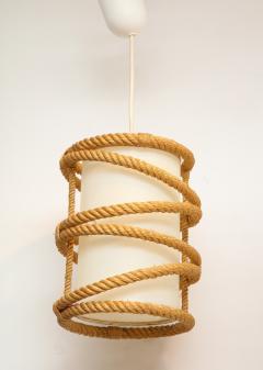 Adrien Audoux Frida Minet Rope chandelier pendant by Audoux Minnet France 1960s - 906305
