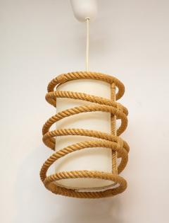 Adrien Audoux Frida Minet Rope chandelier pendant by Audoux Minnet France 1960s - 906306
