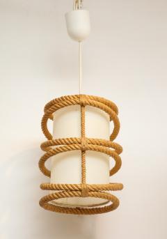 Adrien Audoux Frida Minet Rope chandelier pendant by Audoux Minnet France 1960s - 906310