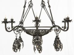 Alessandro Mazzucotelli Alessandro Mazzucotelli Chandelier in Wrought Iron - 1165056