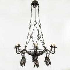 Alessandro Mazzucotelli Alessandro Mazzucotelli Chandelier in Wrought Iron - 1165057