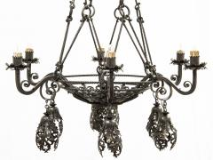 Alessandro Mazzucotelli Alessandro Mazzucotelli Chandelier in Wrought Iron - 1165058