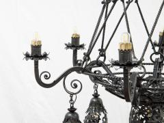 Alessandro Mazzucotelli Alessandro Mazzucotelli Chandelier in Wrought Iron - 1165059