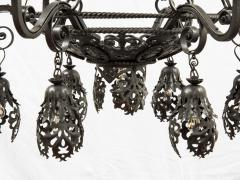 Alessandro Mazzucotelli Alessandro Mazzucotelli Chandelier in Wrought Iron - 1165060