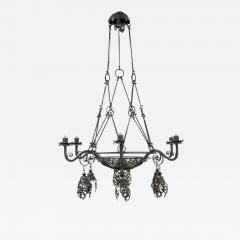 Alessandro Mazzucotelli Alessandro Mazzucotelli Chandelier in Wrought Iron - 1165930