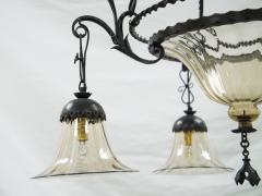 Alessandro Mazzucotelli Alessandro Mazzucotelli Wrought Iron Chandelier - 1165037