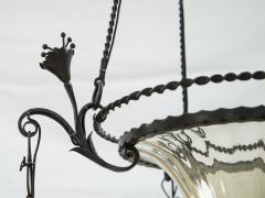 Alessandro Mazzucotelli Alessandro Mazzucotelli Wrought Iron Chandelier - 1165038