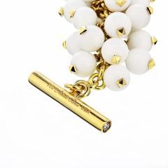 Aletto Brothers ALETTO BROS 18K YELLOW GOLD WHITE AGATE BRACELET - 1743628