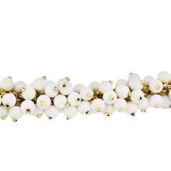 Aletto Brothers ALETTO BROS 18K YELLOW GOLD WHITE AGATE BRACELET - 1743629