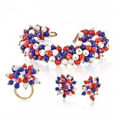 Aletto Brothers ALETTO BROTHERS SUITE OF LAPIS LAZULI AGATE AND DIAMOND JEWELRY - 1743793