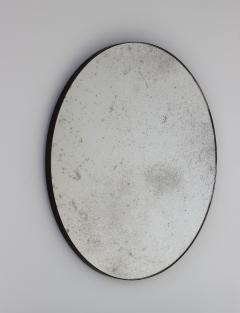 Alguacil Perkoff Ltd Orbis Antiqued Round Mirror with a Bronze Patina Frame - 1742781