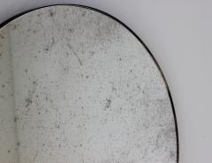 Alguacil Perkoff Ltd Orbis Antiqued Round Mirror with a Bronze Patina Frame - 1742783