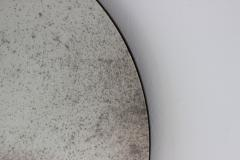 Alguacil Perkoff Ltd Orbis Antiqued Round Mirror with a Bronze Patina Frame - 1742785