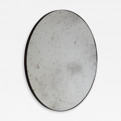 Alguacil Perkoff Ltd Orbis Antiqued Round Mirror with a Bronze Patina Frame - 1743426