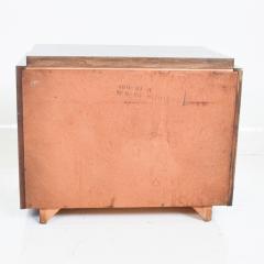 Altavista Lane Black Brutalist Mosaic LANE Altavista Ebonized Walnut Nightstand Cabinet 1970s - 1905172