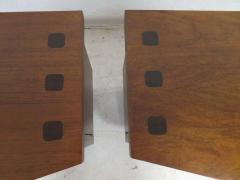 Altavista Lane Handsome Pair of American Modern Ribbed Walnut Nightstands Mid Century Modern - 1629236